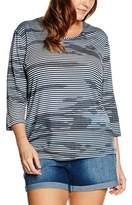 Via Appia Women's Bedrucktes Mit Rundhals Und 3/4 Arm T-Shirt,46 (EU)