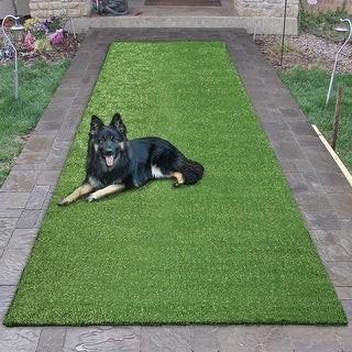 Overstock Garden Green Indoor/Outdoor Artificial Grass Turf Area Rug