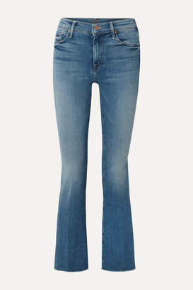 Mother The Weekender Fray High-rise Flared Jeans - Blue