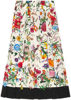 Gucci Flora snake print skirt - women - Silk - 36
