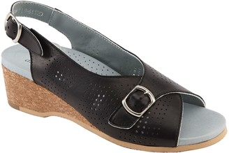 David Tate Cork Wedge Casual Slingback Sandals- Noble