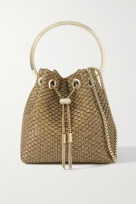 Jimmy Choo Bon Bon Lurex Bucket Bag - Gold