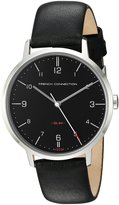 French Connection Men's Quartz Metal and Leather Automatic Watch, Color: (Model: FC1258B)