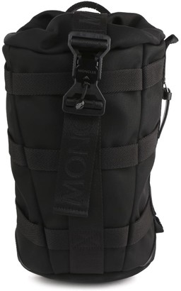 Moncler Black One Shoulder Backpack In Technical Fabric