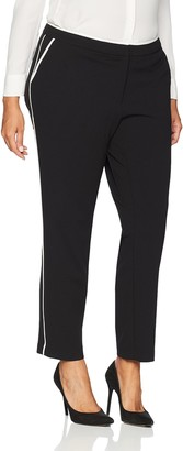 Calvin Klein Women's Plus Size Pant with Contrast Binding