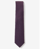 Express narrow micro print silk tie