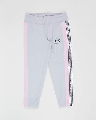 Under Armour SportStyle Taped Crop Tights - Teens