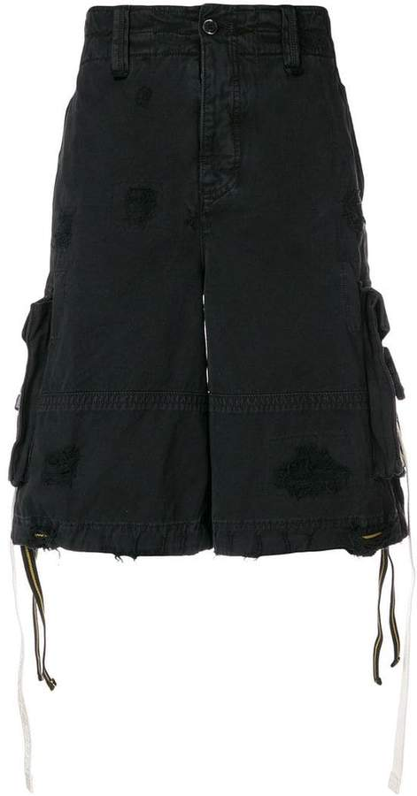 Palm Angels distressed cargo shorts