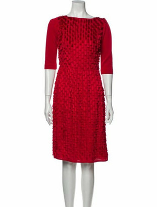 Oscar de la Renta 2012 Knee-Length Dress Red