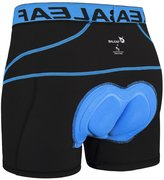 Baleaf Men's 3D Padded Bicycle Cycling Colored Underwear Shorts (, S)