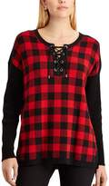 Chaps Women's Buffalo Check Sweater