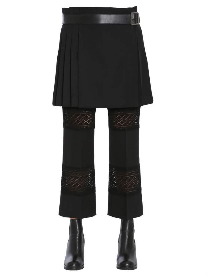 Alexander McQueen Wool Crepe Kilt