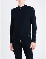 Armani Jeans Ribbed-detail Knitted Cardigan