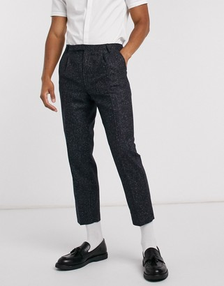 Twisted Tailor skinny suit pants in contrast fleck