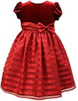 Jayne Copeland Velvet Shadow-Stripe Dress, Toddler & Little Girls (2T-6X)