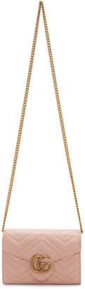 Gucci Pink Mini GG Marmont Shoulder Bag