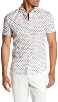 Parke & Ronen Short Sleeve Print Stretch Slim Fit Shirt