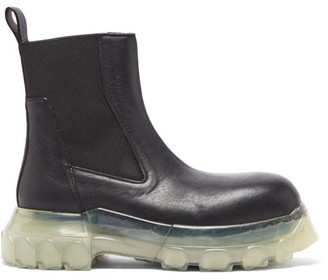 Rick Owens Beatle Bozo Chunky-sole Leather Chelsea Boots - Black White