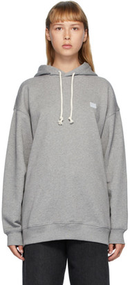 Acne Studios Grey Oversized Patch Hoodie