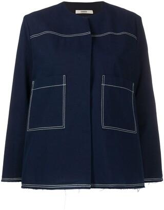 Odeeh Stitching Detail Short Jacket