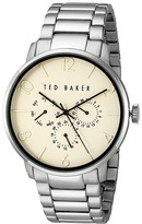 Ted Baker Classic Collection Custom Multifunction Sub-Eye w/ Contrast Detail Date Link Bracelet Watch