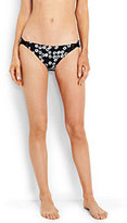 Lands' End Women's Reversible Low Waist Bikini Bottoms-Black
