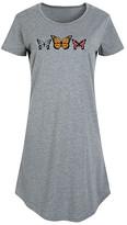 Instant Message Women's Women's Tee Shirt Dresses HEATHER - Heather Gray '90s Butterfly Short-Sleeve Dress - Women & Plus