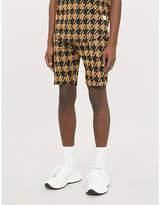 PREVU Pelle houndstooth-print woven shorts