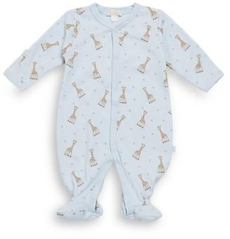 Kissy Kissy Baby Boy's Giraffe Print Pima Cotton Footie