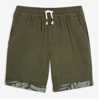 Joe Fresh Toddler Boys' Rolled Cuff Shorts, Army Green (Size 5)