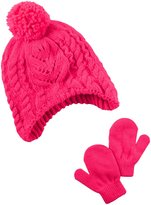 Carter's Hats and Glove Sets - Pink - 0-9 Months