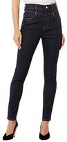 Karen Millen Rinse Wash High Waisted Jeans, Dark Denim