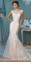 Mon Cheri Enchanting Decorative Button Tulle Wedding Gown