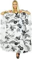 Kokom Women Bohemian Printed Dress Long Kaftan Cotton Maxi Nightwear Caftan