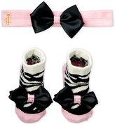 Juicy Couture Newborn Girls) Headband & Socks Set
