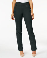 Style&Co. Style & Co. Carbon Gray Wash Straight-Leg Jeggings, Only at Macy's
