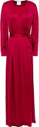 Forte Forte Forte_forte Pleated Satin-crepe Maxi Wrap Dress