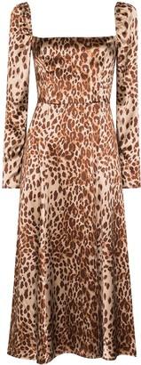 Reformation Maryanne leopard-print midi dress