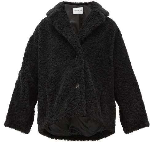 Stand Studio Merilyn Faux-shearling Coat - Black
