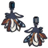 Tory Burch Women's Abstract Leather & Crystal Statement Earrings