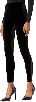 Wolford Blake Velvet and Mesh Leggings (Black/Black) Women's Casual Pants