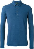 Zanone longsleeved polo shirt - men - Cotton - 48
