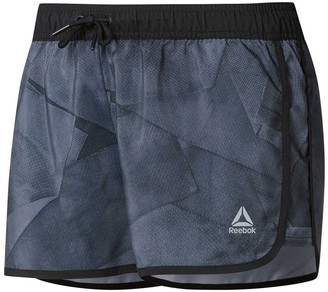 Reebok Womens Workout Ready All Over Print Shorts