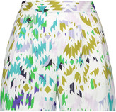 Milly Printed cotton-blend shorts