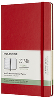 Moleskine Hard 18 Month Weekly Notebook Academic Planner, Large