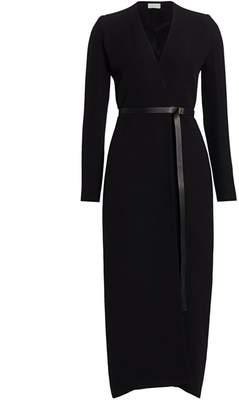 The Row Vana Belted Silk Wrap Dress