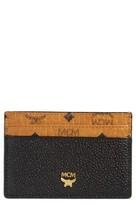 MCM Women's Mini Corina Visetos Coated Canvas & Leather Card Case - Black