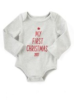 Mud Pie Infant My First Christmas Bodysuit