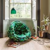 Graham and Green Foliage Print Cocoon Chair