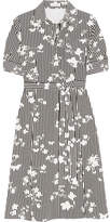 Altuzarra Kieran Printed Silk Crepe De Chine Shirt Dress - Black